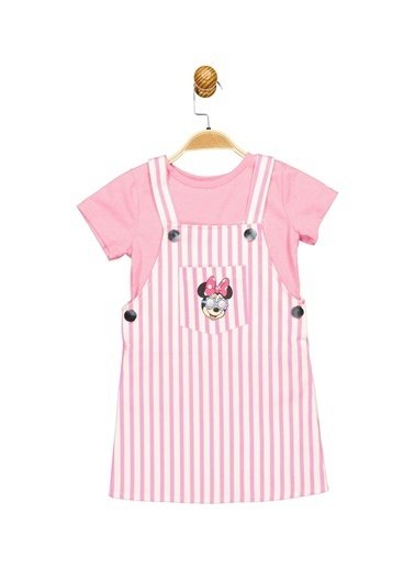 Minnie Mouse Lisanslı Çocuk Salopet Takım 17659 Fuşya